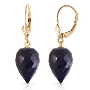 EARRINGS WITH DROP BRIOLETTE SAPPHIRES